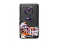 Coque Sony Xperia E4 I Love Rome
