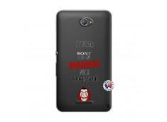 Coque Sony Xperia E4 J Peux Pas J Ai Un Braquage Avec Le Professeur