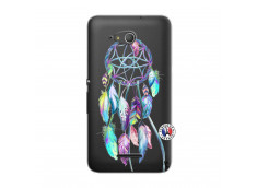 Coque Sony Xperia E4G Blue Painted Dreamcatcher