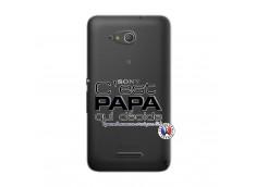 Coque Sony Xperia E4G C'est Papa Qui Décide Quand Maman n'est pas là