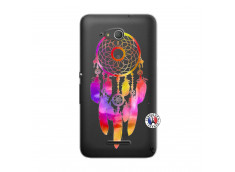 Coque Sony Xperia E4G Dreamcatcher Rainbow Feathers