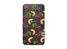 Coque Sony Xperia E4G Hey Cherry, j'ai la Banane