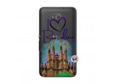 Coque Sony Xperia E4G I Love Barcelona