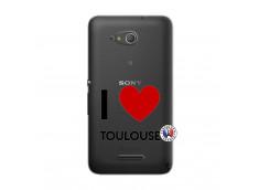 Coque Sony Xperia E4G I Love Toulouse