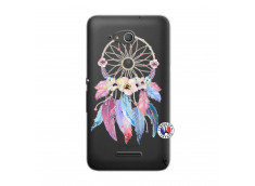 Coque Sony Xperia E4G Multicolor Watercolor Floral Dreamcatcher