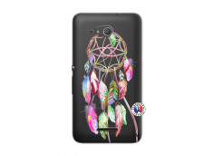 Coque Sony Xperia E4G Pink Painted Dreamcatcher