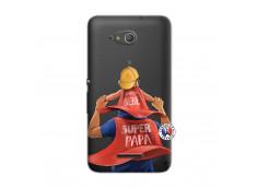 Coque Sony Xperia E4G Super Papa et Super Bébé
