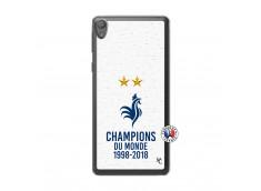 Coque Sony Xperia E5 Champion Du Monde Translu