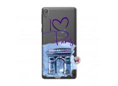 Coque Sony Xperia E5 I Love Paris Arc Triomphe