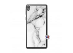 Coque Sony Xperia E5 White Marble Translu