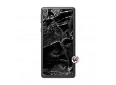 Coque Sony Xperia E5 Black Marble Translu