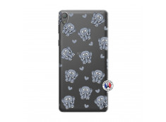 Coque Sony Xperia E5 Petits Elephants