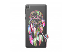 Coque Sony Xperia E5 Pink Painted Dreamcatcher