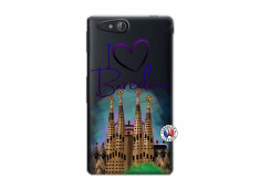 Coque Sony Xperia GO I Love Barcelona