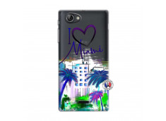 Coque Sony Xperia J I Love Miami