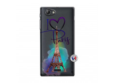 Coque Sony Xperia J I Love Paris