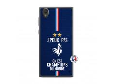 Coque Sony Xperia L1 Je Peux Pas On Est Les Champions Du Monde Translu