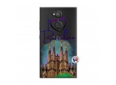 Coque Sony Xperia L2 I Love Barcelona