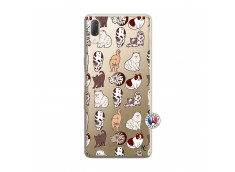 Coque Sony Xperia L3 Cat Pattern