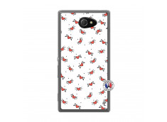 Coque Sony Xperia M2 Cartoon Heart Translu
