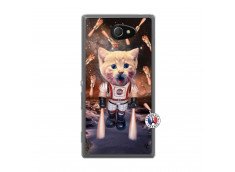 Coque Sony Xperia M2 Cat Nasa Translu