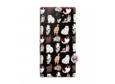Coque Sony Xperia M2 Cat Pattern