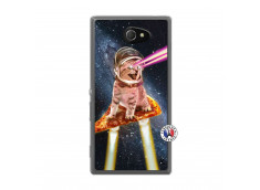 Coque Sony Xperia M2 Cat Pizza Translu