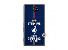 Coque Sony Xperia M2 Je Peux Pas On Est Les Champions Du Monde Translu