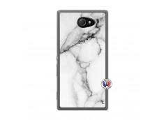 Coque Sony Xperia M2 White Marble Translu