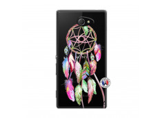 Coque Sony Xperia M2 Pink Painted Dreamcatcher