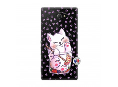 Coque Sony Xperia M2 Smoothie Cat