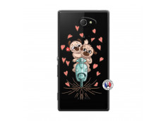 Coque Sony Xperia M2 Puppies Love