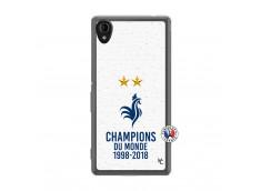 Coque Sony Xperia M4 Aqua Champion Du Monde Translu