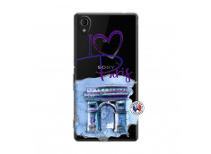Coque Sony Xperia M4 Aqua I Love Paris Arc Triomphe