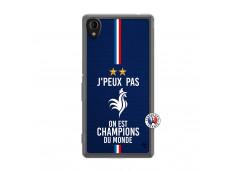 Coque Sony Xperia M4 Aqua Je Peux Pas On Est Les Champions Du Monde Translu