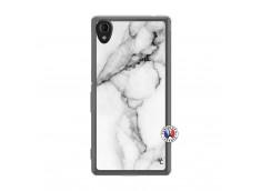 Coque Sony Xperia M4 Aqua White Marble Translu