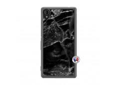Coque Sony Xperia M4 Aqua Black Marble Translu