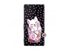 Coque Sony Xperia M4 Aqua Smoothie Cat