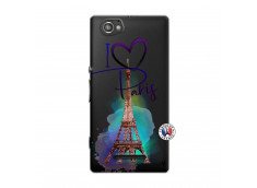 Coque Sony Xperia M I Love Paris