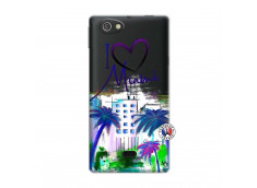Coque Sony Xperia Miro I Love Miami