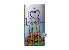 Coque Sony Xperia P I Love Barcelona