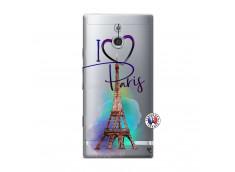 Coque Sony Xperia P I Love Paris
