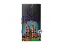 Coque Sony Xperia S I Love Barcelona