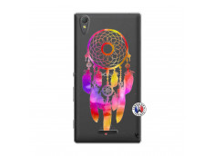 Coque Sony Xperia T3 Dreamcatcher Rainbow Feathers