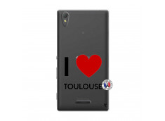 Coque Sony Xperia T3 I Love Toulouse