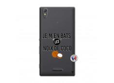 Coque Sony Xperia T3 Je m'en bats Les Noix De Coco