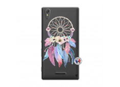 Coque Sony Xperia T3 Multicolor Watercolor Floral Dreamcatcher