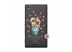 Coque Sony Xperia T3 Puppies Love