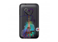 Coque Sony Xperia Tipo I Love Paris