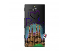 Coque Sony Xperia U I Love Barcelona